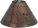 Large Punched Metal Lamp Shade