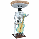 Skeleton Mariachi Sculpture Paper Mache Assorted
