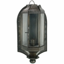 Aged Tin Wall Lantern Candle Holder