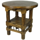 Varnished Brown Rustic Bistro Bar Table