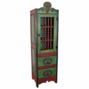 Painted Wood Skinny Santa Fe Cabinet
