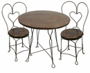 Rustic Wrought Iron Dining Furniture & Bar Stools