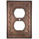 Rustic Metal Outlet Cover - Star