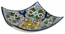 Square Raised Corner Talavera Appetizer Tray