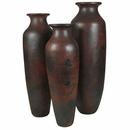 Large Slender Cocucho Floor Vases - Set of Three