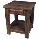 Rustic Old Wood End Table or Nightstand