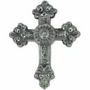 Medium Baroque Pewter Cross