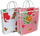 Small Mexican Oilcloth Bags - Lot of 4