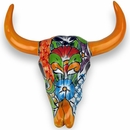 Talavera Steer Skull Wall Art