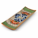Talavera Green Scale Rectangular Appetizer Tray