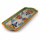 Talavera Green Scale Serving Tray