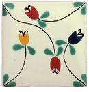 6 Inch Talavera Tile - Vines & Flowers - PP2232 - 10 Tiles