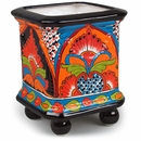 Small Talavera Ball Footed Square Planter