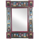 Medium Day Of The Dead Folk Art Mirror