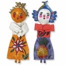 Mexican Folk Art Coconut Dolls - Assorted