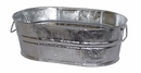 #00 Medium Galvanized Tin Oval Planters  - Set of 2