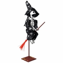 Skeleton Witch Paper Mache Sculpture