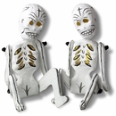 Jointed Paper Mache Skeletons - Set of 2