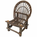 Rustic Twig Side Chair - With Bark