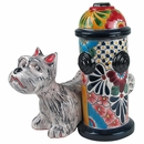 Talavera Dog with Fire Hydrant
