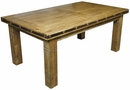 Mexican Iron Banded  Southwest Dining Table