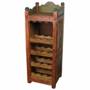 Rustic Painted Wood Wine Rack