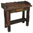 Old Door Rustic Wood Vanity Table