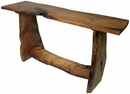 Rustic Mesquite Slab Sofa Table