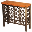 Small Elena Iron Base Console with Copper Top