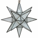 Medium Frosted Maya Star Hanging Fixture