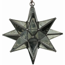 Aged Tin & Glass Mirrored Star Fixture