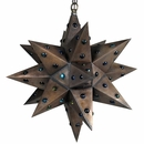 Medium Aged Tin Star Light with Marbles