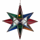 Large Clear & Stained Glass Star Light