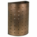 Large Aged Tin Domed Wall Sconce