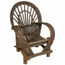 Rustic Twig Armchair - With Bark