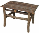 Small Rustic Twig Table - With Bark
