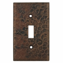 Hammered Copper Switchplates - Single Toggle