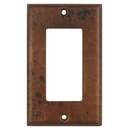 Hammered Copper Switchplates - Single Rocker