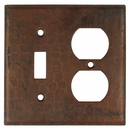 Hammered Copper Toggle and Outlet Cover Plate
