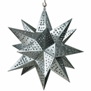 Medium Natural Tin Star Light Fixture