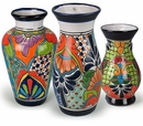 Talavera Pottery Vases and Jars