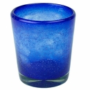 Cobalt Blue Rocks Glass - Set of 4 - Mexican Bubble Glass