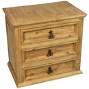 3 Drawer Rustic Night Stand - Mexican Pine