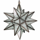 Large Partially Frosted Glass Star Light
