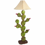 Painted Iron Prickly Pear Floor Lamp
