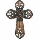 Aged Tin Domed Cross