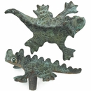 Bronze Chameleon Drawer Pulls - Set of 2