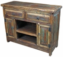 Rustic Painted Wood Sideboard Buffet