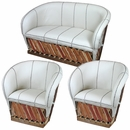 Leather Equipale 3 Piece Loveseat & Chair Set