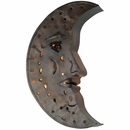 Aged Tin Moon Wall Sconce